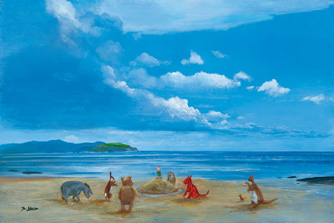 "Peter Ellenshaw Disney ""Pooh and Friend at the Seaside"" Limited Edition Canvas Giclee"