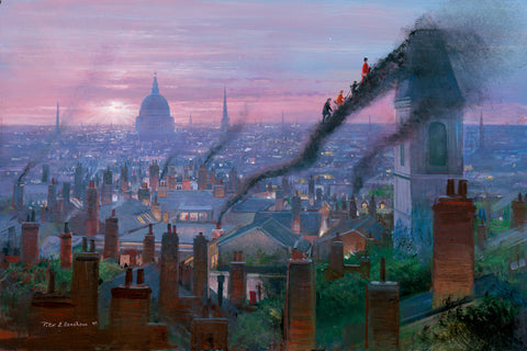 "Peter Ellenshaw Disney ""Smoke Staircase"" Limited Edition Canvas Giclee"