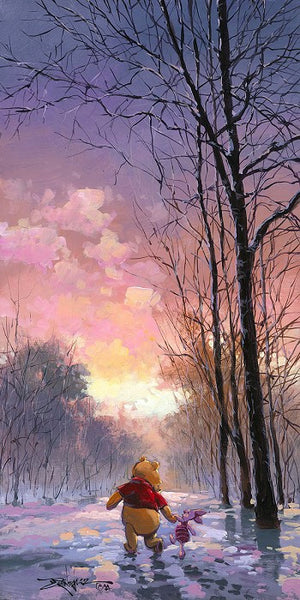 "Rodel Gonzalez Disney ""Snowy Path"" Limited Edition Canvas Giclee"