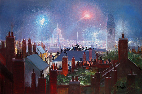 "Peter Ellenshaw Disney ""Sweeps Dance on the Rooftop"" Limited Edition Canvas Giclee"