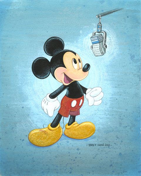 "Bret Iwan Disney ""Talks Like a Mouse"" Limited Edition Canvas Giclee"