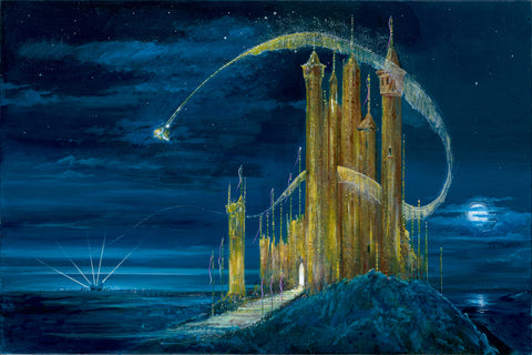 "Peter and Harrison Ellenshaw Disney ""The Gold Castle"" Limited Edition Canvas Giclee"