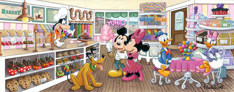 "Michelle St. Laurent Disney ""Trip to the Candy Store"" Limited Edition Canvas Giclee"