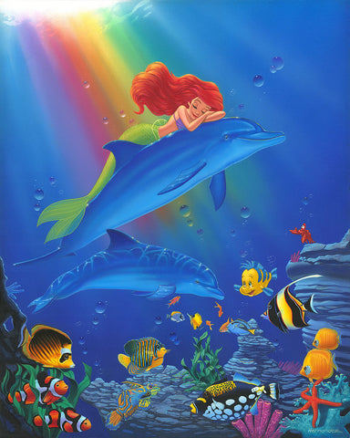 "Manuel Hernandez Disney ""Underwater Dreams"" Limited Edition Canvas Giclee"