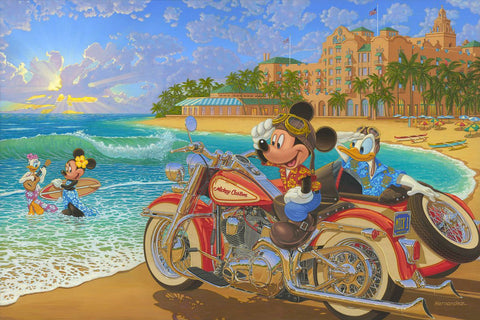 "Manuel Hernandez Disney ""Where the Road Meets the Sea"" Limited Edition Canvas Giclee"