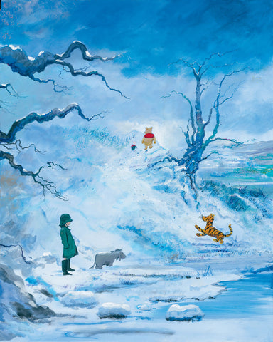 "Peter and Harrison Ellenshaw Disney ""Winter"" Limited Edition Canvas Giclee"