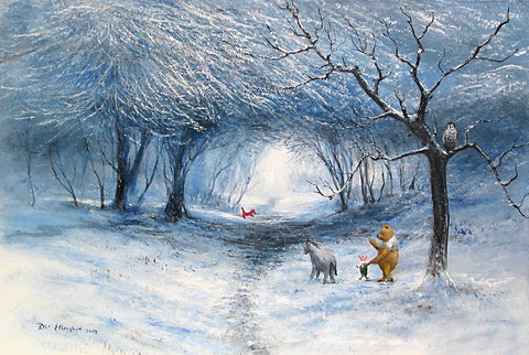 "Peter Ellenshaw Disney ""Winter Walk"" Limited Edition Canvas Giclee"