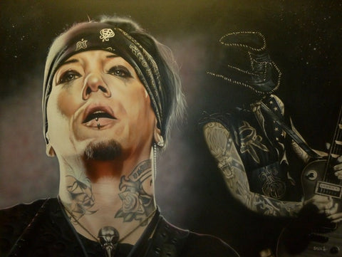 "Stickman ""Do You Want to See Heaven Tonight"" (DJ Ashba) Limited Edition Canvas Giclee"