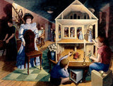 "Rob Gonsalves Rob Gonsalves ""Dolls Dreamhouse"" Giclée on Paper  8 x 10"" Limited 395 Paper and Canvas Giclee"