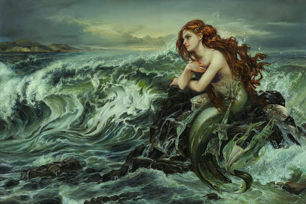 "Heather Theurer Disney ""Drawn to the Shore"" Limited Edition Canvas Giclee"