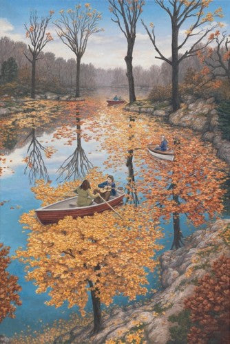 "Rob Gonsalves Rob Gonsalves ""Fall Floating"" Giclée on Paper  15 x 10"" Limited 300 Paper and Canvas Giclee"