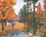 "Rob Gonsalves Rob Gonsalves ""Fall Colour flies"" Giclée on Paper 7 x 9"" Limited 295 Paper and Canvas Giclee"