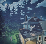 "Rob Gonsalves Rob Gonsalves ""Firefly Constellation"" Giclée on Paper 6.75 x 7"" Limited 300 Paper and Canvas Giclee"