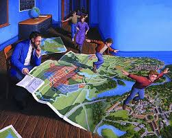 "Rob Gonsalves Rob Gonsalves ""Flight Plan"" Giclée on Paper 9 x 11 1/4"" Limited 195 Paper and Canvas Giclee"