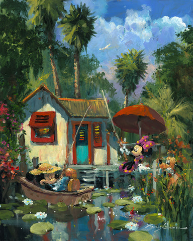 "James Coleman Disney ""Florida Fishin'"" Limited Edition Canvas Giclee"