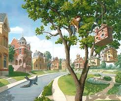 "Rob Gonsalves Rob Gonsalves ""For the Birds"" Giclée on Paper   9.25 x 10"" Limited 395 Paper and Canvas Giclee"