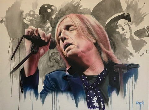"Stickman ""Goin' Wherever It Leads"" (Tom Petty) Limited Edition Canvas Giclee"