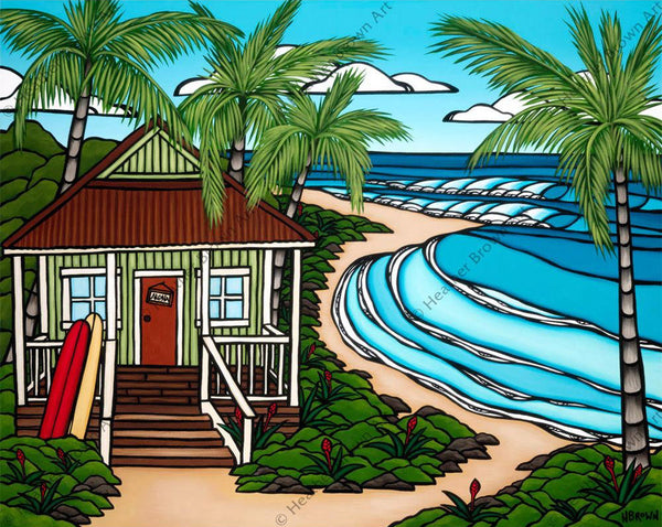 "Heather Brown ""Hawai'i' Bungalow"" Limited Edition Canvas Giclee"