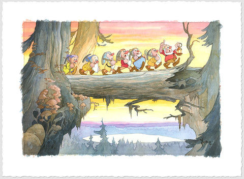 "Toby Bluth Disney ""Heigh Ho"" Limited Edition Paper Giclee"