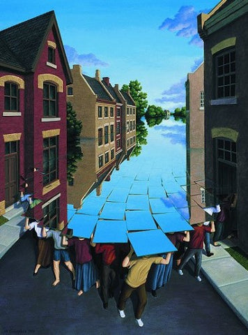 "Rob Gonsalves Rob Gonsalves ""Here comes the Flood"" Giclée on Paper   5 x 7"" Limited 395 Paper and Canvas Giclee"