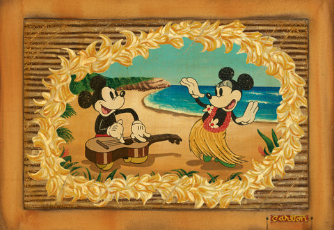 "Trevor Carlton Disney ""Hula in Paradise"" Limited Edition Canvas Giclee"