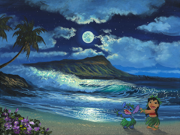"Walfrido Garcia Disney ""Hula Moon"" Limited Edition Canvas Giclee"