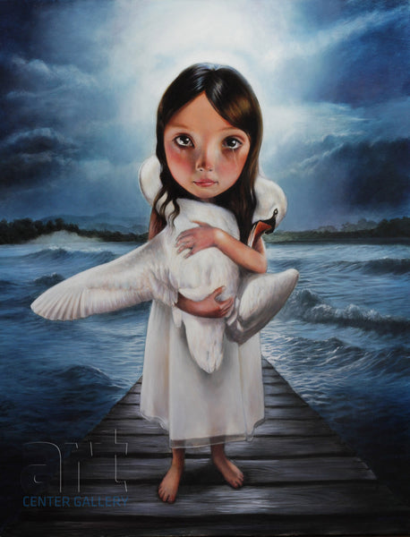 "Richard J. Oliver ""I Opened My Heart and I Showed Her My Scars"" Limited Edition Canvas Giclee"