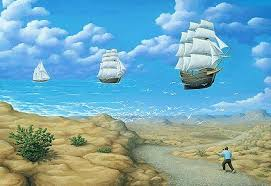 "Rob Gonsalves Rob Gonsalves ""In Search of the Sea"" Giclée on Paper  5 x 7.25"" Limited 395 Paper Giclee"