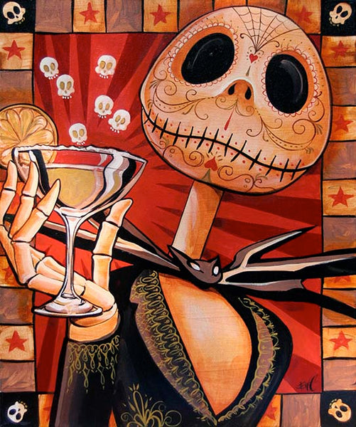 "Mike Bell ""Jack Celebrates the Dead"" Canvas Giclee"
