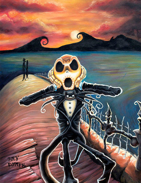 "Joey Rotten ""Jack Screams"" Canvas Giclee"