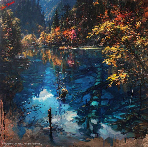 "Cao Yong ""Jiuzhaigou Valley II"" Limited Edition Canvas Giclee"