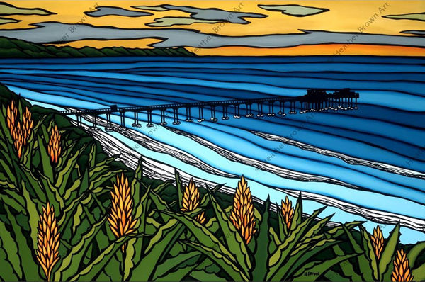 "Heather Brown ""La Jolla Sunset"" Limited Edition Canvas Giclee"