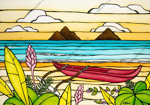 "Heather Brown ""Lanikai Daydream"" Limited Edition Canvas Giclee"