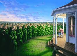 "Rob Gonsalves Rob Gonsalves "" Listening Fields ( The) "" Giclée on Paper 5"" h x  7"" w Limited 395 Paper and Canvas Giclee"