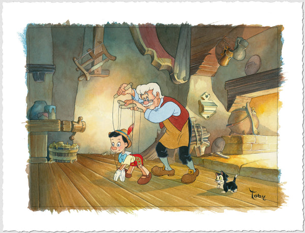"Toby Bluth Disney ""Little Wooden Boy"" Limited Edition Paper Giclee"