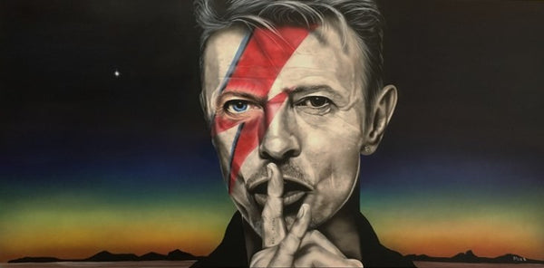 "Stickman ""Look Out Your Window I Can See His Light"" (David Bowie) Limited Edition Canvas Giclee"