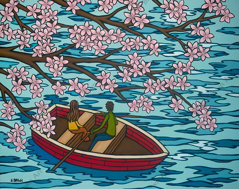 "Heather Brown ""Love and Sakura"" Limited Edition Canvas Giclee"