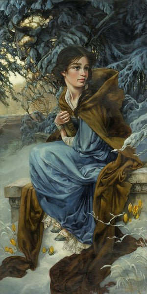 "Heather Theurer Disney ""Love Blooms in Winter"" Limited Edition Canvas Giclee"