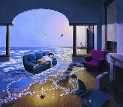 "Rob Gonsalves Rob Gonsalves ""Making Waves"" Giclée on Paper 6"" x 6 3/4"""" Limited 395 Paper and Canvas Giclee"