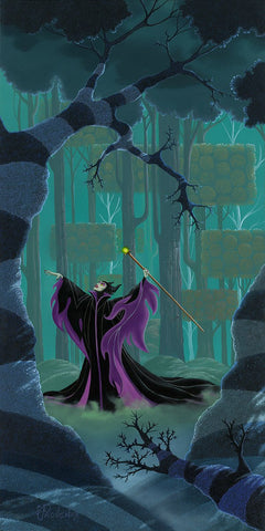"Michael Provenza Disney ""Maleficent Summons the Power"" Limited Edition Canvas Giclee"