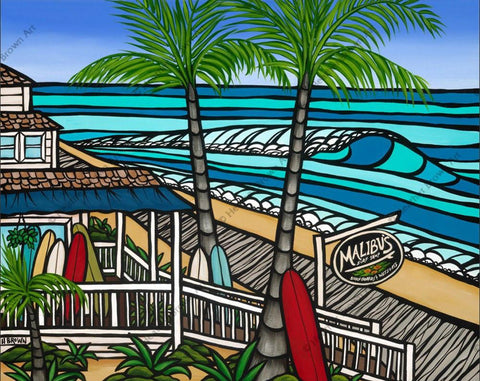 "Heather Brown ""Malibu's Surf Shop"" Limited Edition Canvas Giclee"
