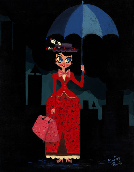 "Lorelay Bové Disney ""Mary's Umbrella"" Limited Edition Canvas Giclee"