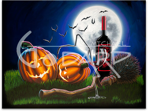 "Michael Godard ""Drunken Pumpkins"" Limited Edition Canvas Giclee"