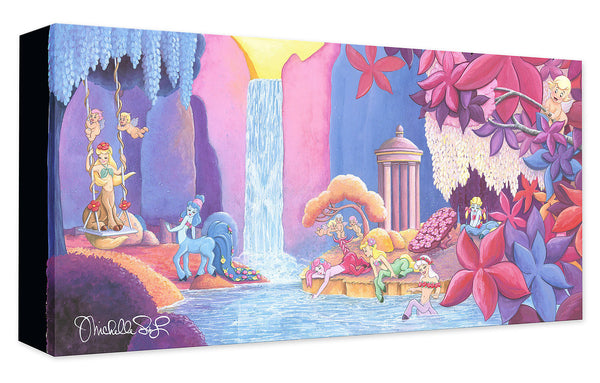 "Michelle St. Laurent Disney ""Garden of Beauty"" Limited Edition Canvas Giclee"