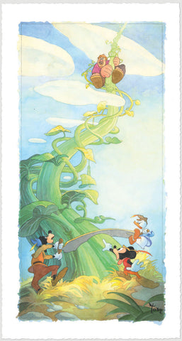 "Toby Bluth Disney ""Mickey and the Beanstalk"" Limited Edition Paper Giclee"