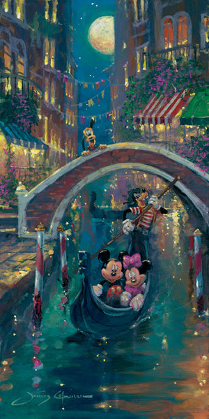 "James Coleman Disney ""Moonlight in Venice"" Limited Edition Canvas Giclee"