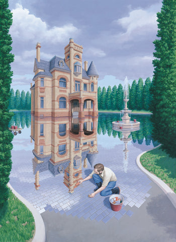 "Rob Gonsalves Rob Gonsalves ""Mosaic Moat (The)"" Giclée on Paper  5.5"" x 7.5"" Limited 395 paper Giclee"