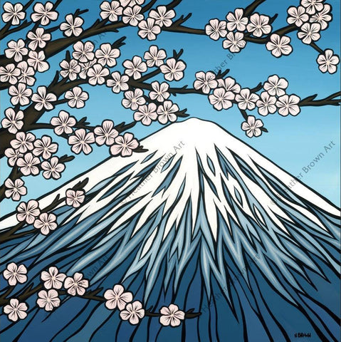 "Heather Brown ""Mt. Fuji"" Limited Edition Canvas Giclee"
