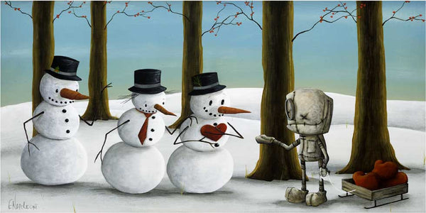 "Fabio Napoleoni-"" A little something to keep you Warm ""- Limited Edition SN 140- 12"" by 24"" - Art Center Gallery"