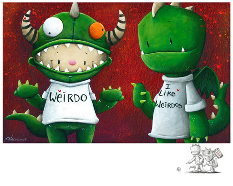 "Fabio Napoleoni ""A Perfect Pair"" Limited Edition Paper Giclee"